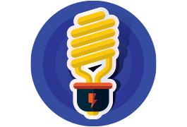 auditoría energética iluminación icono