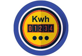 auditoría energética contador icono